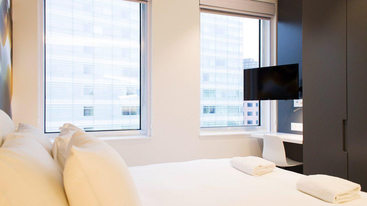B-Aparthotel slaapgedeelte